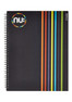 Nu: Craze Peeling Stripes PP Wiro Notebook - Black