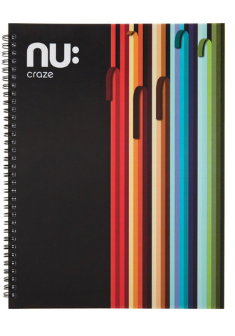 Nu Craze Peeling Stripes Hardback Notebook Black