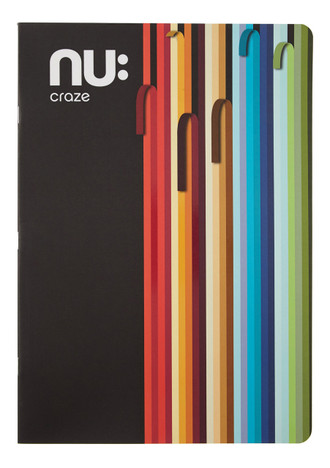 Nu Craze Peeling Stripes A4 Flexi Notebook