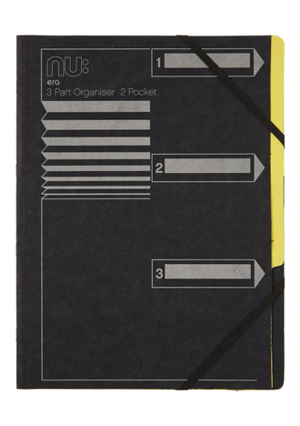 Nu Era Cloud 3 Part Organiser File Black