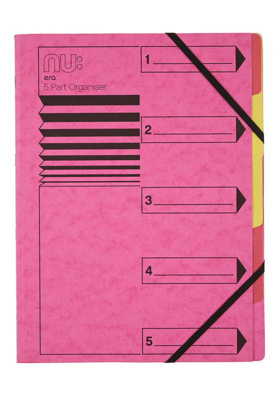 Nu Era Cloud 5 Part Organiser Pink