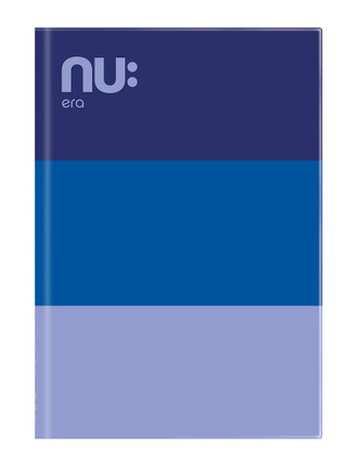 Nu: Craze Three Tone Casebound Notebook - Blue