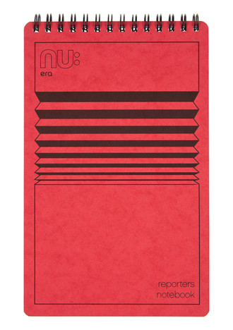 Nu Era Cloud Reporters Notebook Red