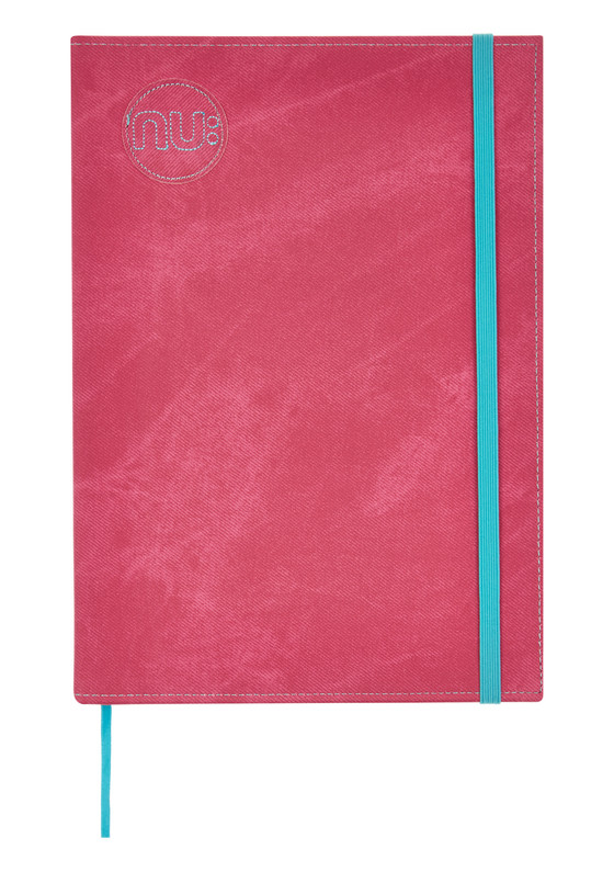 Nu Notebooks - Nu Era Denim PU Cover Casebound Elastic Journal Pink