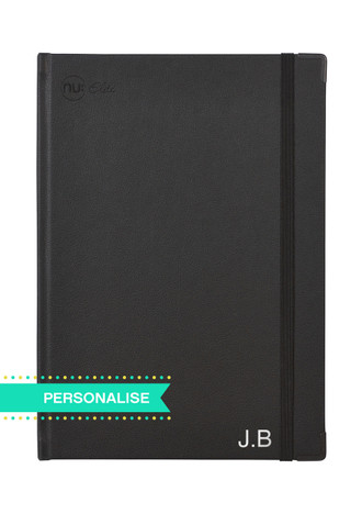 Nu Elite Prestige Black PU Casebound Journal - A4