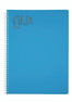 Nu Era Bright PP Notebook Blue
