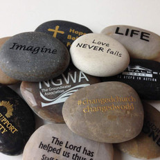 "2""-3"" Engraved Stone Samples"