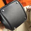 Hermes Black Picotin Lock MM Togo Leather Bag