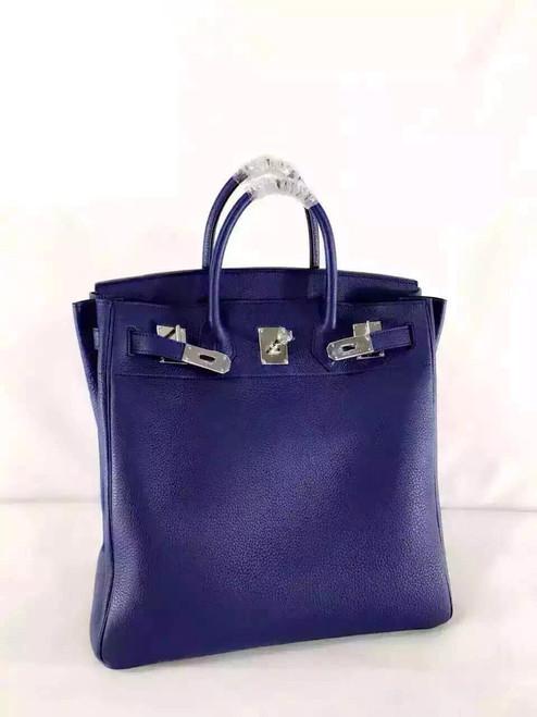 Hermes Bleu Saphir Haut A Courroies Bag Togo 40cm Palladium Hardware