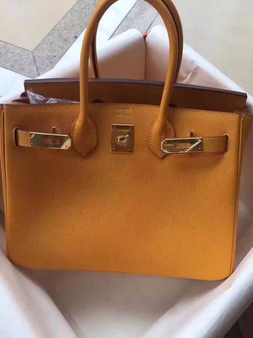 Hermes Gold Birkin Bag 30cm Epsom Gold Hardware