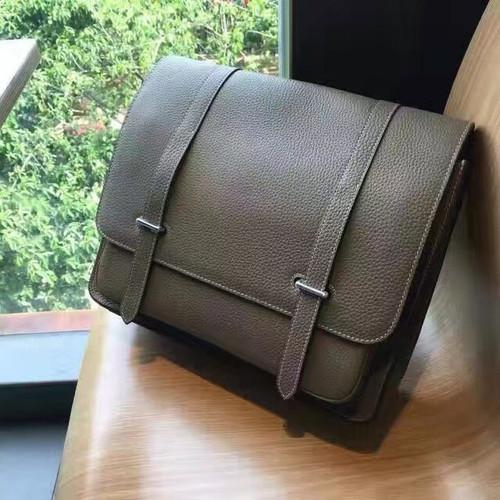 Hermes Steve 35 Messenger bag in taurillon Clemente leather