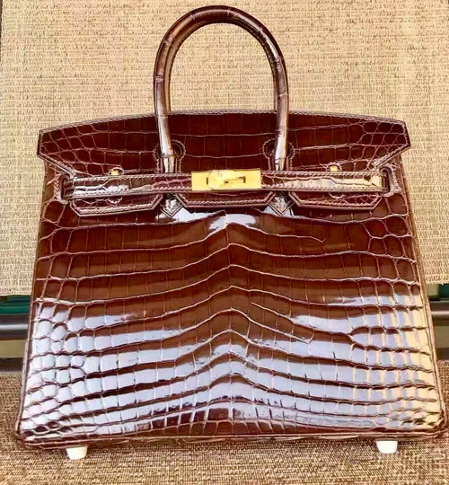 Hermes HAVANNE Birkin 30 in Niloticus Crocodile with Palladium hardware