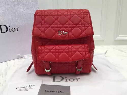 """Christian Dior STARDUST """"STARDUST"""" BACKPACK  RED LAMBSKIN Red"""