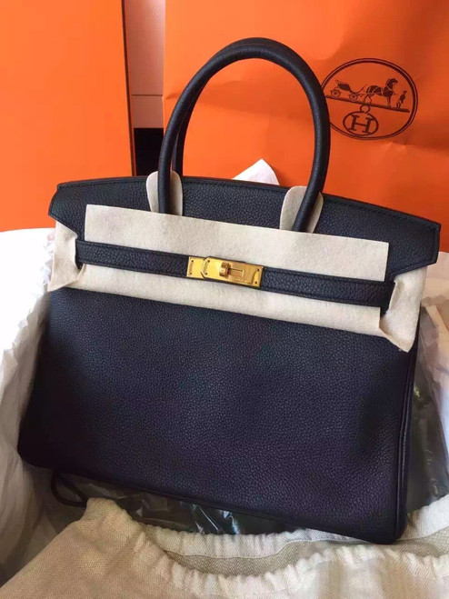 Hermes Black Birkin 35cm Epsom Leather Gold Hardware