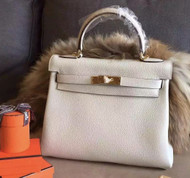 Hermes Cream Kelly 28 cm Togo Gold Hardware