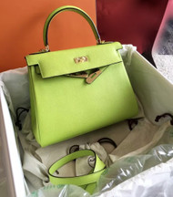 Hermes Vert Anis Green Kelly 28 cm Togo Gold Hardware