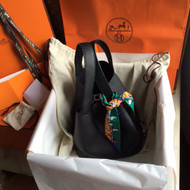 Hermes Black Picotin Lock MM Togo Leather Bag