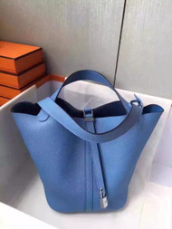 Hermes TURQUOISE Picotin Lock 18 Togo Leather Bag