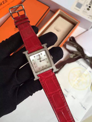 Hermes H Hour Watch with gemstone
