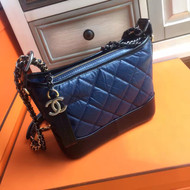Chanel's Gabrielle Small Hobo Bag Black/Blue