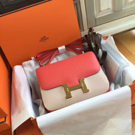 Hermes T5 Peach Constance Epsom leather 18cm GHW
