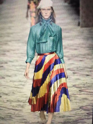 Gucci Metalic Rainbow pleated skirt SS2017