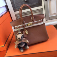 Hermes Noisette Birkin 25 Togo leather Gold Hardware
