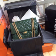 Chanel Large Green Reissue 2.55 Handbag A37587