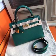 Hermes Green Mini Kelly 25 Epsom calf Gold Hardware