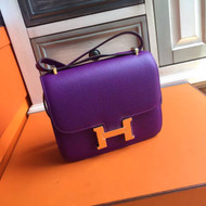 Hermes P9 Anemone Constance Epsom leather 18cm Gold Hardware