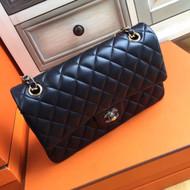 Chanel Black Lambskin Classic Flap Bag