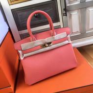 Hermès I5 Flamingo Birkin 30 cm Togo Leather Gold Hardware