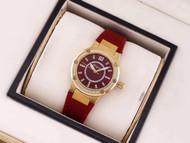 Salvatore Ferragamo Women's FIG110015 F-80 Precious Analog Display Swiss Quartz Red Watch