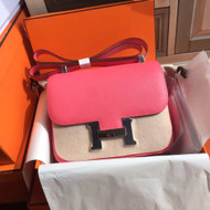 Hermes Fuchsia Constance Epsom leather 18cm Palladium Hardware