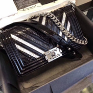 Chanel Boy Chanel handbag with glittered PVC FW2017/18 A67086