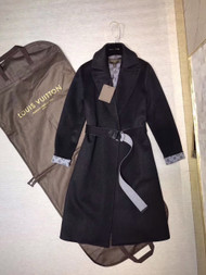 Louis Vuitton DOUBLE CASHGORA WRAP COAT WITH MONOGRAM INSIDE FRANCE SIZE 38