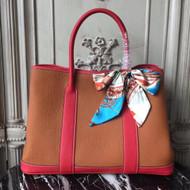 Hermes Leather Garden Party Medium Bag by Bella Vita Moda Personalization