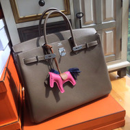 Hermes 18 Etoupe Birkin 40 Togo leather