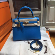Hermes B3 Blue Zanzibar (ザンジバールブルー)  Kelly 25 cm Epsom Gold Hardware