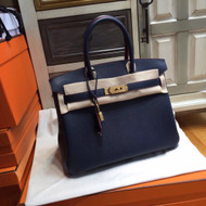 Hermes Royal Blue Birkin Bag 30cm Epsom Gold Hardware