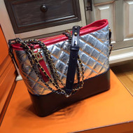 Chanel's Gabrielle Hobo Bag Silver/Black/Red A93824