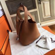 Hermes Gold Picotin Lock 18 Togo Leather Bag
