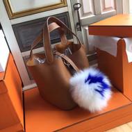 Hermes Gold Picotin Lock MM Togo Leather Bag