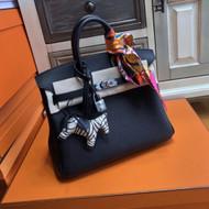 Hermes Black Birkin 25cm Togo Palladium Hardware