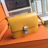 Celine MEDIUM CLASSIC BAG IN BOX CALFSKIN HONEY