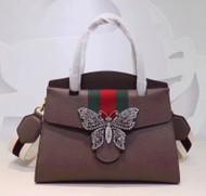 GucciTotem medium top handle bag Brown