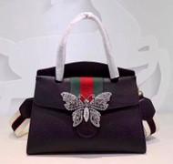 GucciTotem medium top handle bag Black