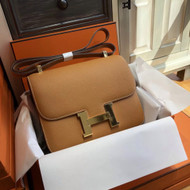 Hermes 1H Toffee Constance 24 Epsom bag with Gold Hardwares (2017 New Color)