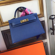 Hermès R2 Bleu Agate Kelly Mini II Epsom Gold Hardware