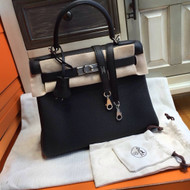 Hermès Black Kelly 32 Epsom Palladium Hardware
